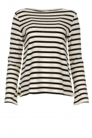 Be Pure |  Striped sweater Liv | black  | Picture 1