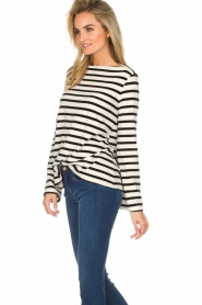 Be Pure |  Striped sweater Liv | black  | Picture 4