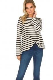 Be Pure |  Striped sweater Liv | black  | Picture 2