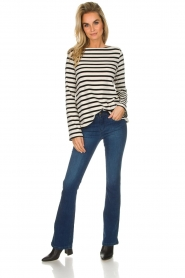 Be Pure |  Striped sweater Liv | black  | Picture 3