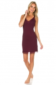 Rosemunde |  Slip Dress Billie | burgundy  | Picture 3