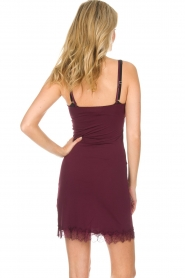 Rosemunde |  Slip Dress Billie | burgundy  | Picture 5
