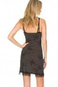 Rosemunde | Slip dress Billie | green with print  | Picture 5