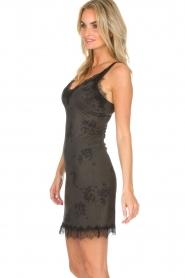 Rosemunde | Slip dress Billie | green with print  | Picture 4