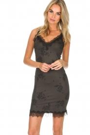 Rosemunde | Slip dress Billie | green with print  | Picture 2
