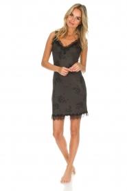 Rosemunde | Slip dress Billie | green with print  | Picture 3