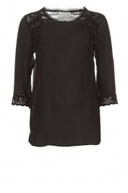 Rosemunde |  Top with lace Lovise | black  | Picture 1