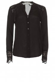 Rosemunde |  Blouse with lace Erika | black  | Picture 1