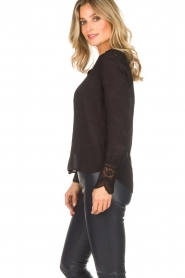 Rosemunde |  Blouse with lace Erika | black  | Picture 5