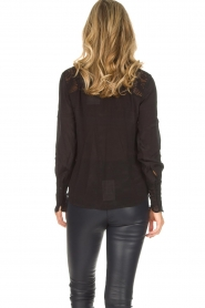 Rosemunde |  Blouse with lace Erika | black  | Picture 6