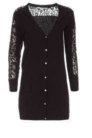Rosemunde |  Cardigan with lace details Maci | black  | Picture 1