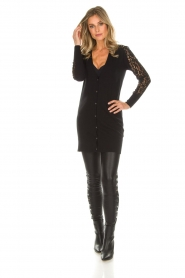 Rosemunde |  Cardigan with lace details Maci | black  | Picture 3