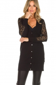 Rosemunde |  Cardigan with lace details Maci | black  | Picture 2