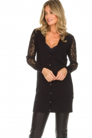 Rosemunde |  Cardigan with lace details Maci | black  | Picture 4