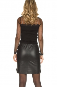 Rosemunde |  Turtleneck top with see-through sleeves Layla | black  | Picture 5