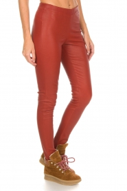 Arma |  Leather leggings Roche | red  | Picture 4
