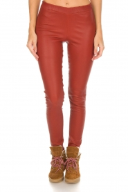 Arma |  Leather leggings Roche | red  | Picture 3
