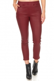 Arma |  Leather leggings Provence | burgundy  | Picture 3