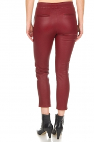 Arma |  Leather leggings Provence | burgundy  | Picture 5