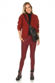 Arma |  Leather leggings Provence | burgundy  | Picture 2