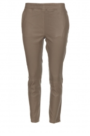 Arma |  Leather leggings Provance | taupe  | Picture 1