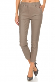 Arma |  Leather leggings Provance | taupe  | Picture 3