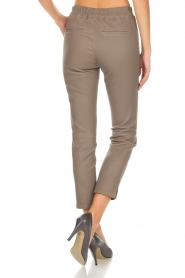 Arma |  Leather leggings Provance | taupe  | Picture 5