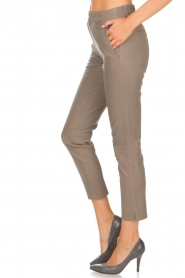 Arma |  Leather leggings Provance | taupe  | Picture 4