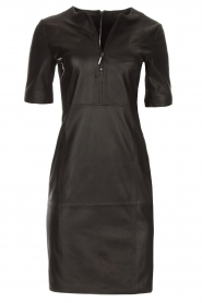 Arma |  Leather dress Casta | black  | Picture 1