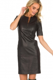 Arma |  Leather dress Casta | black  | Picture 2