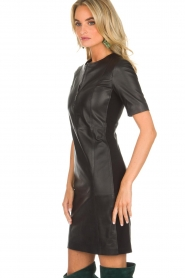 Arma |  Leather dress Casta | black  | Picture 4