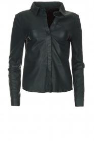 Arma |  Leather blouse Dita | blue  | Picture 1