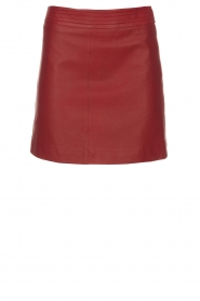 Arma |  Leather skirt Campbell | red  | Picture 1