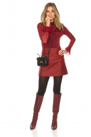 Arma |  Leather skirt Campbell | red  | Picture 3