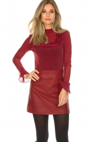 Arma |  Leather skirt Campbell | red  | Picture 2