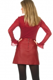 Arma |  Leather skirt Campbell | red  | Picture 5