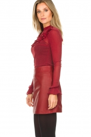 Arma |  Leather skirt Campbell | red  | Picture 4
