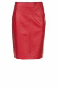 Arma |  Leather skirt Massy | red  | Picture 1