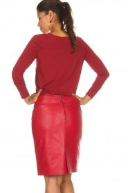 Arma |  Leather skirt Massy | red  | Picture 5