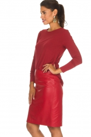 Arma |  Leather skirt Massy | red  | Picture 4