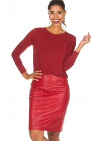 Arma |  Leather skirt Massy | red  | Picture 2
