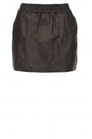 Arma |  Leather skirt Mare | black  | Picture 1
