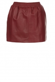 Arma |  Leather skirt Mare | red  | Picture 1