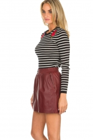 Arma |  Leather skirt Mare | red  | Picture 5