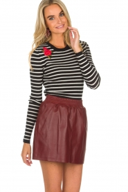Arma |  Leather skirt Mare | red  | Picture 4