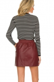 Arma |  Leather skirt Mare | red  | Picture 6