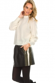 Arma |  Leather skirt Joanna | black  | Picture 2