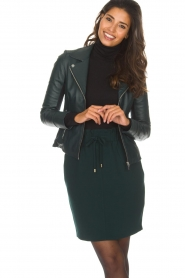 Arma |  Leather biker jacket Kendall | deep teal  | Picture 2