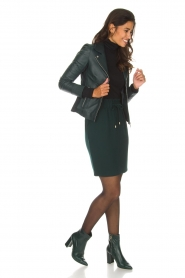 Arma |  Leather biker jacket Kendall | deep teal  | Picture 3