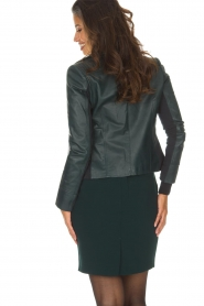 Arma |  Leather biker jacket Kendall | deep teal  | Picture 5